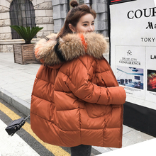 2018 New yellow Winter Jacket Women Parka Fake Fur Collar Down Wadded Female outerwear Cotton-Padded Jackets Women Winter Coat цены онлайн
