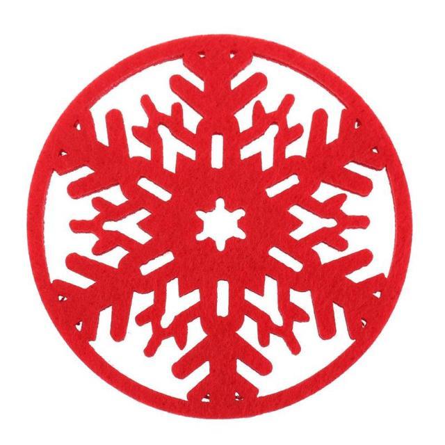 1 pz Buon Natale Fiocchi di Neve Tazza di Zerbino Decorazioni Di Natale Del Part