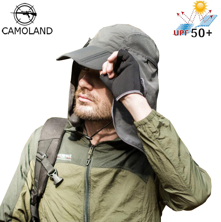 Men Women Sun Hats Summer New Unisex Protective Hat Face Neck Flap Neck Cover Ear Flap UV Protection Adult Cap Outdoor Sports
