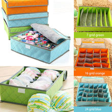 Foldable Closet Drawer Organizer Divider Storage Box For Underwear Bra 3pcs Multi-size Non-woven Scarfs Sock