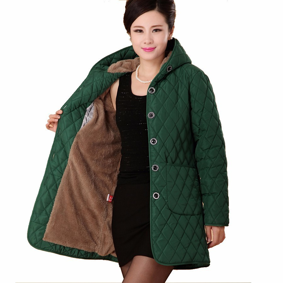 Winter Jacket Middle Aged Women Winter Coat Hooded Parka Jaqueta Feminina Chaquetas Mujer Casacos De Inverno Feminino Plus Size