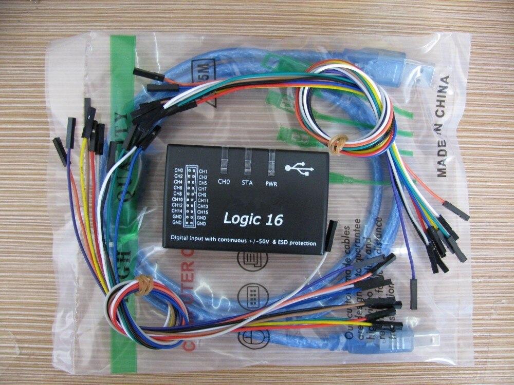 Logic16 Mini-USB анализатора логики USB логический 100 мГц 16Ch анализатора логики для ARM FPGA