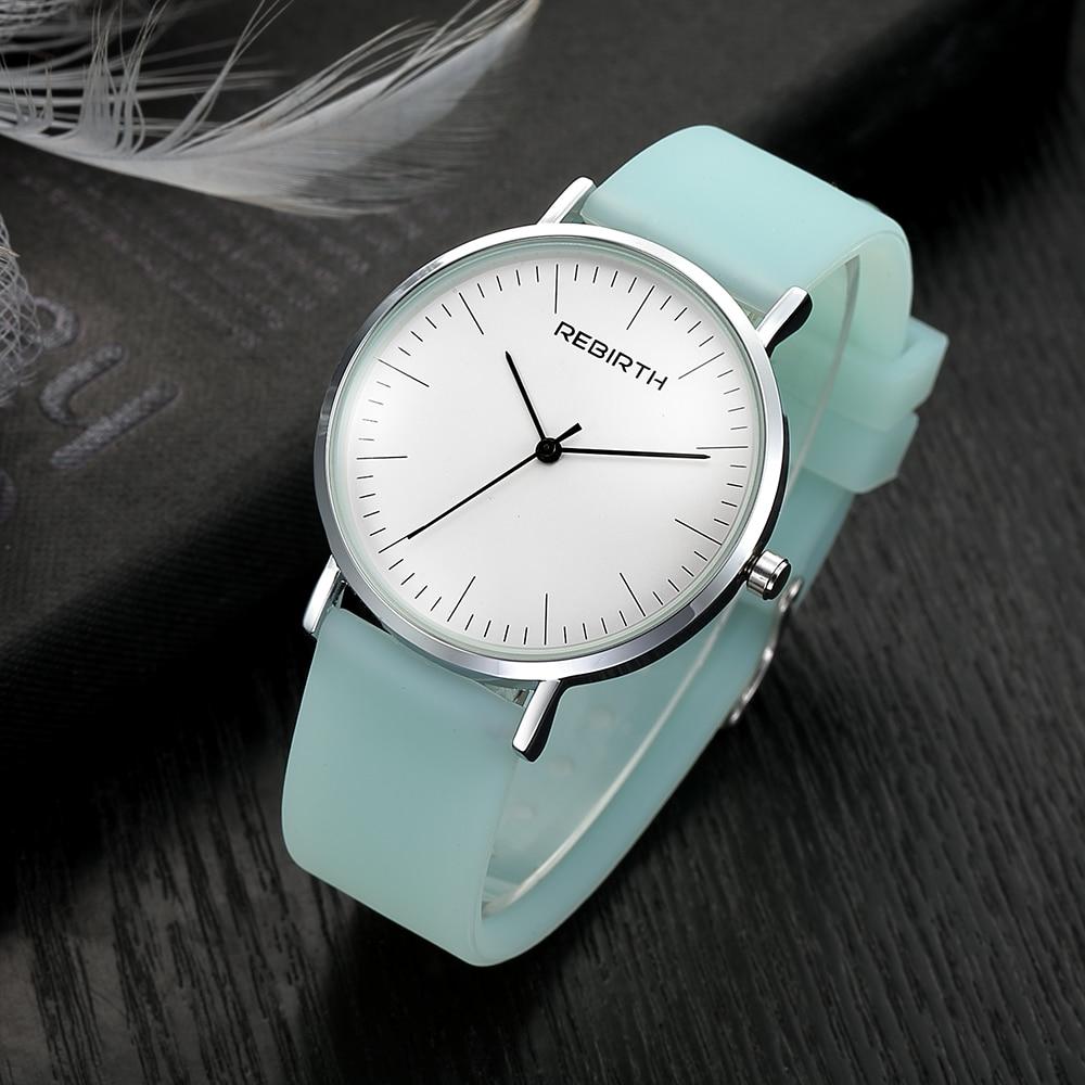 Fashion Casual Women Dress Watches Top Brand Silicone Strap Ladies Quartz Wristwatch Luxury Female Clock