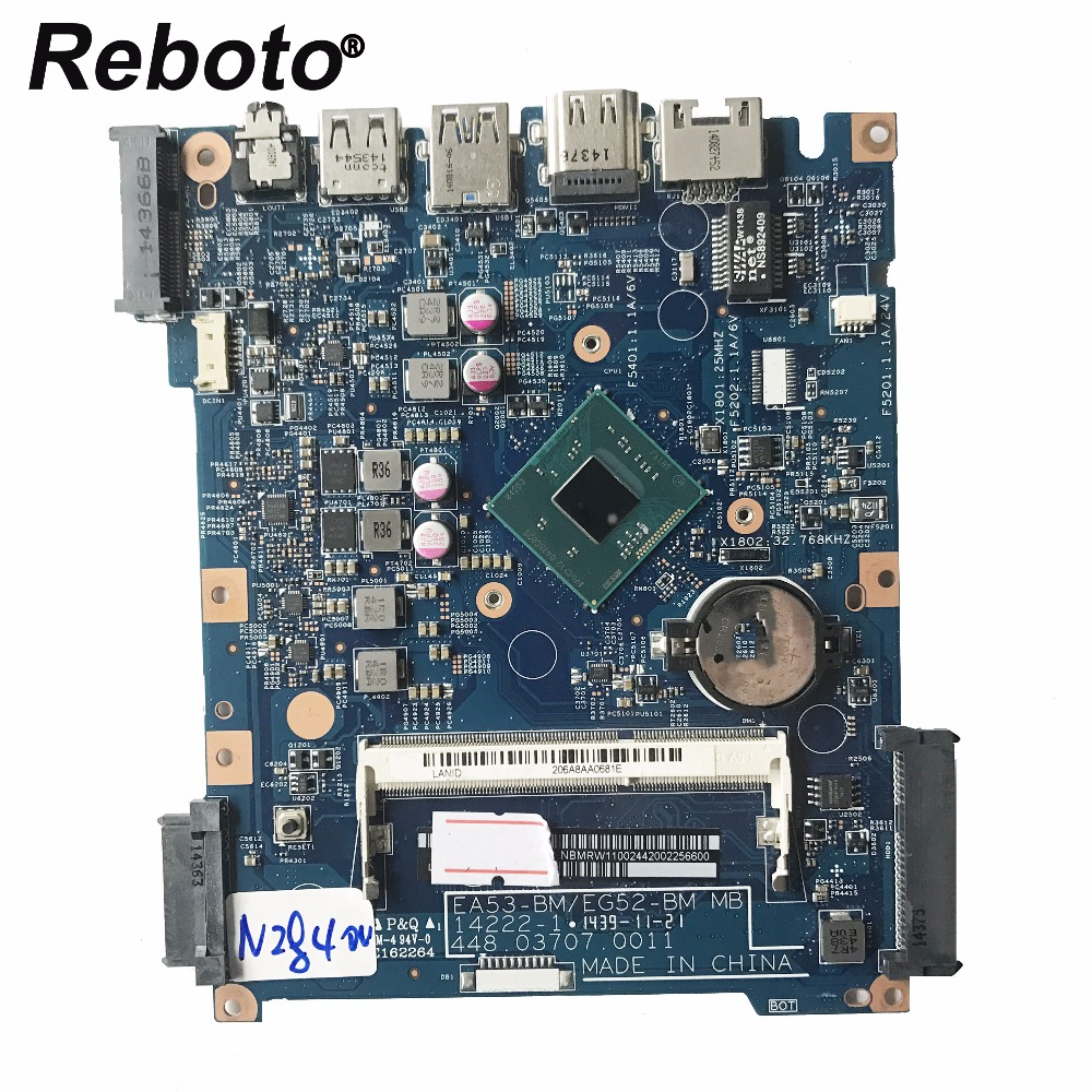 Reboto For Acer ES1-512 Laptop Motherboard SR1YJ N2840 CPU NBMRW11002 448.03708.0011 448.03707.0011 MB 100% Tested Fast Ship