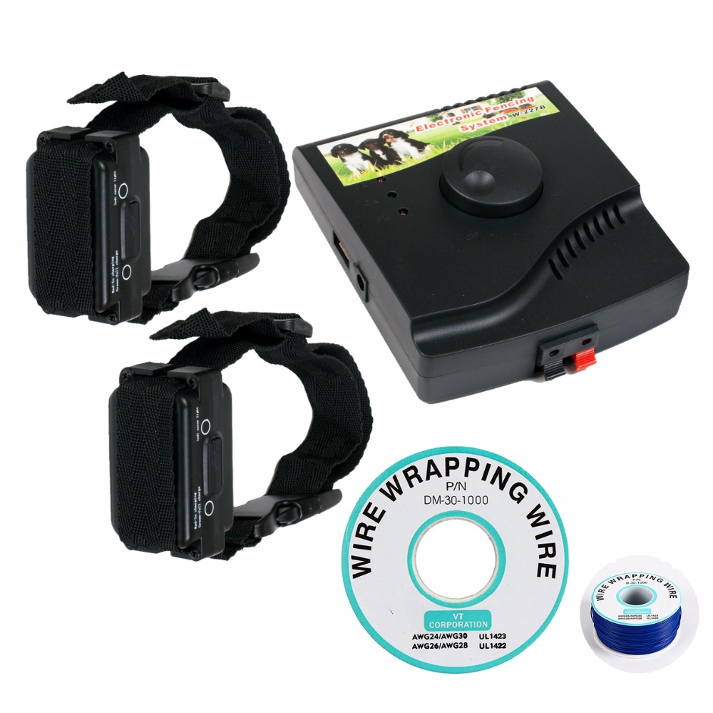 IN GROUND Waterproof Electronic Dog Fencing System W 227B Rechargeable and Waterproof Receiver Training Collar