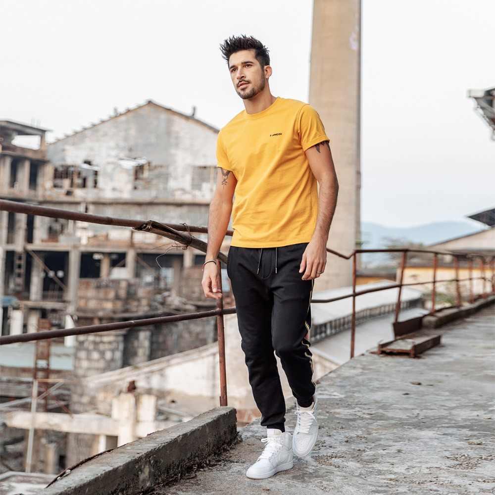 SIMWOOD 新 2019 夏の Tシャツの男性綿 100% 刺繍カジュアル tシャツ基本 O ネック高品質プラスサイズの男性 Tシャツ 190107