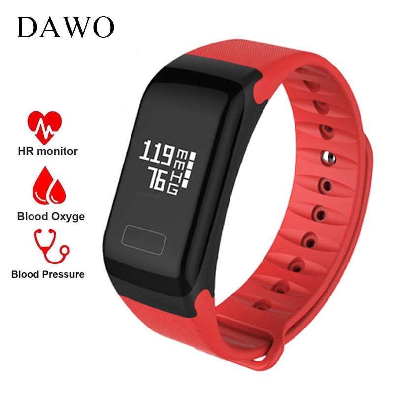 DAWO Smart Fitness Bracelet Activity Tracker Heart Rate Blood Pressure Oxygen IP67 Waterproof for Andriod IOS PK miband 2