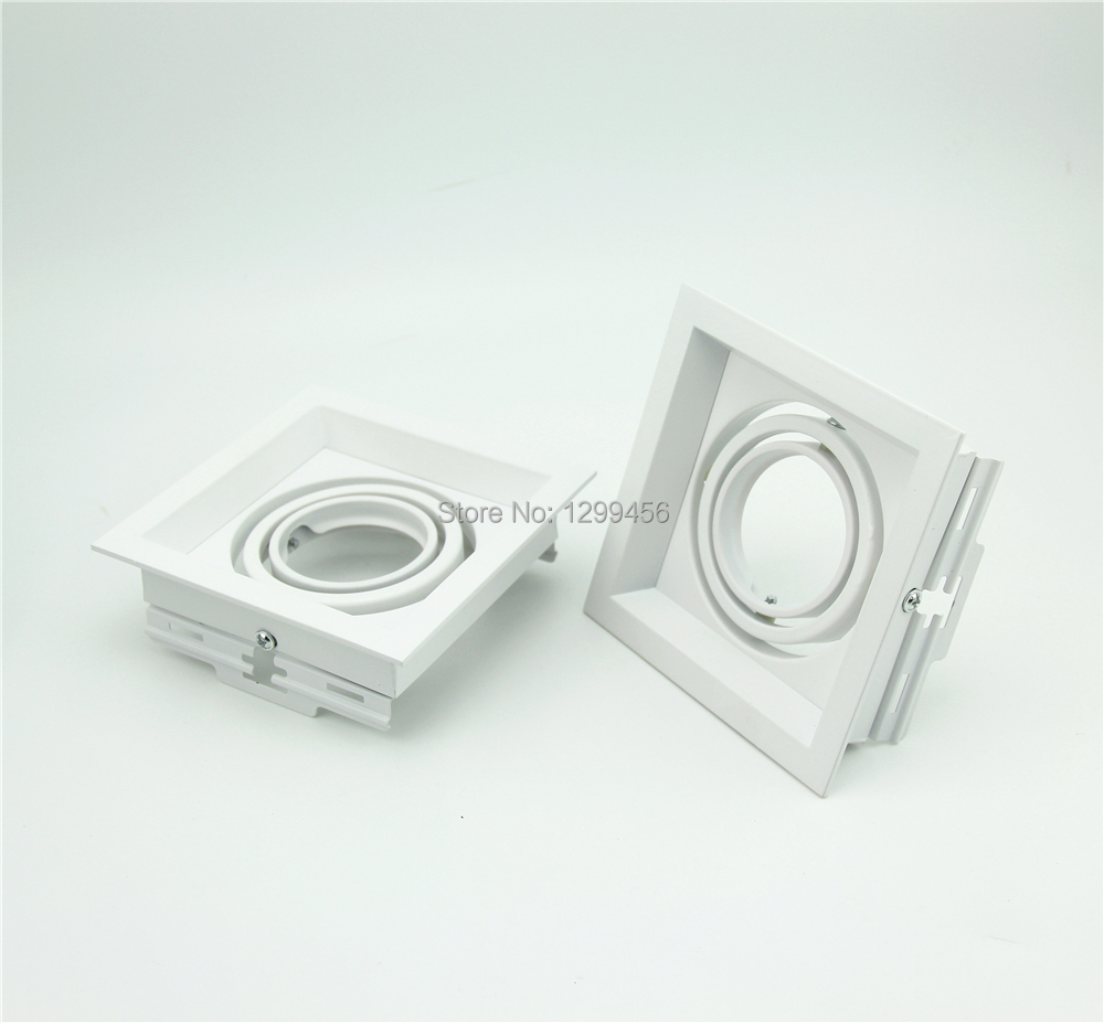 Gu10 Led Ceiling Light Fixture: Frost White 360 Degree Adjustale Halogen GU10/MR16 Led