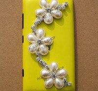 Envío gratis 1 yard/lot 3.1 cm flor de la perla nupcial bolsas de ropa adornos de cristal rhinestone cadena de metal para la artesanía decoración
