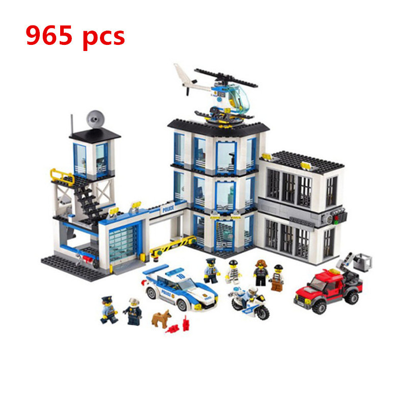 2018 Lepin 02020 City Series The New Station Set Children Building Blocks Bricks Boy Toy Model Gift 60141 Hand Spinner Military dhl lepin 02020 965pcs city series the new police station set model building set blocks bricks children toy gift clone 60141