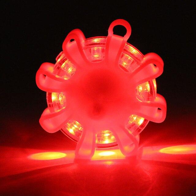 Mini 8 * LED awaryjne bezpieczeństwo Flare Red Road Flare magnetyczne migające ostrzeżenie lampki nocne drogowe Disc Beacon dla samochodów ciężarowych łodzi
