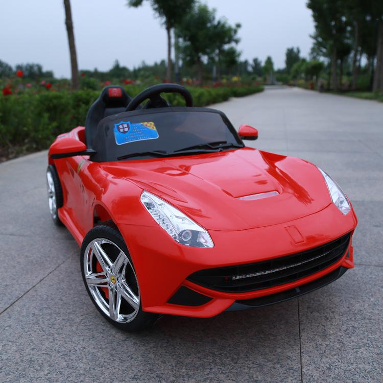 childrens electric car can take four pairs of drive remote control toy cars children baby