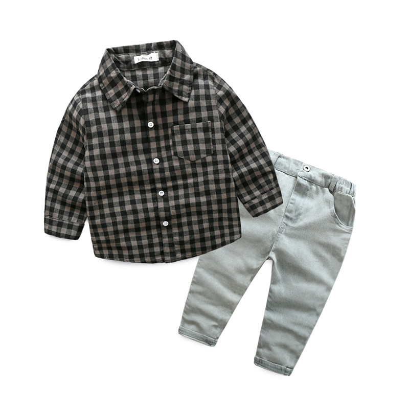 Kid 3pcs Clothes Suit Baby Boys Long Sleeve T-Shirt Top+Pants Outfits Children Gentleman Clothing Formal Set Wedding Party Suits baby boy clothes suits vest plaid shirt pants 3pcs set party formal gentleman wedding long sleeve kid clothing set free shipping
