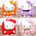 Kawaii Cartoon 30cm Hello Kitty 4 colour stuffed PP cotton toys Children School Bags Toys For Children Gifts