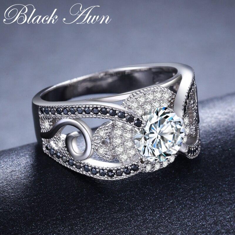 [BLACK AWN] 5.4Gram Genuine 925 ստերլինգ արծաթյա - Նուրբ զարդեր - Լուսանկար 5