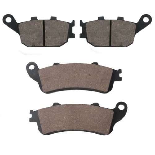 4PCS Motorcycle Semi-metal Sintered Front Rear Disc Brake Pads For HONDA FORZA 250 2000 - 2004 2001 2002 2003 00 01 02 03 04 sintered copper motorcycle parts motorbike front