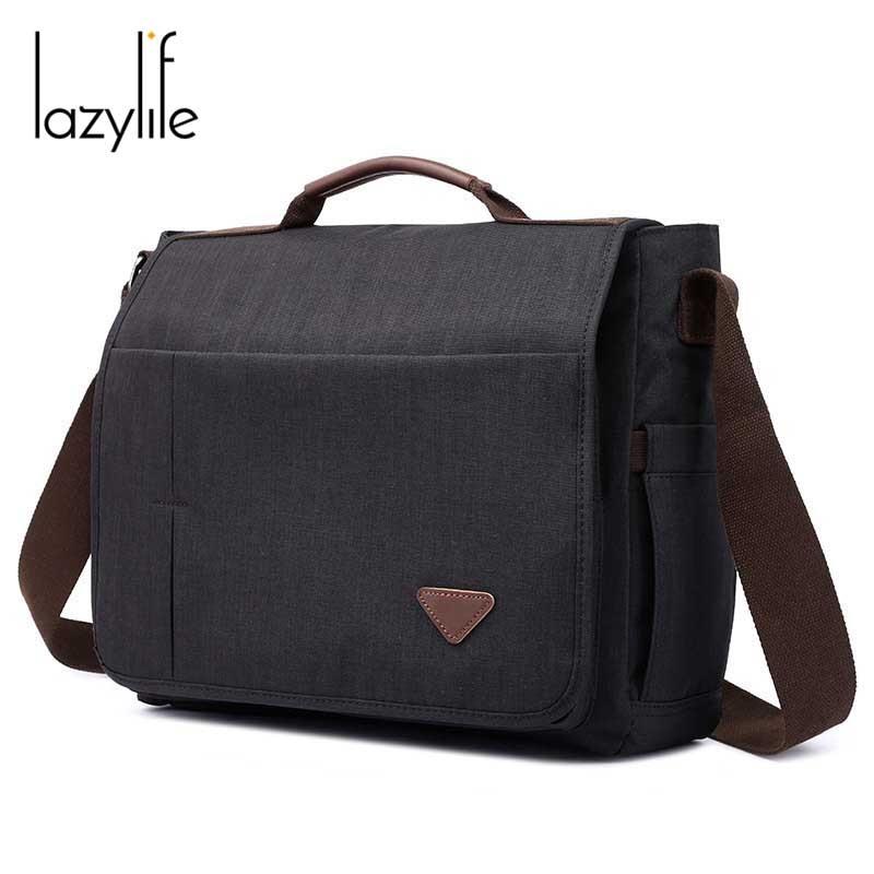 2019 Mode Lazylife 2019 Leinwand Umhängetaschen Männer Messenger Schulter Für Mann Handtaschen Qualität Hohe Kapazität Luxus Designer Marke