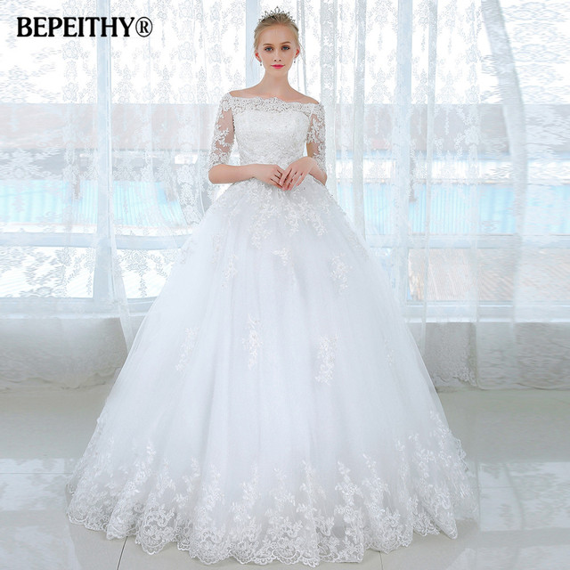 vestidos de novia ball gown short sleeves wedding dress casamento