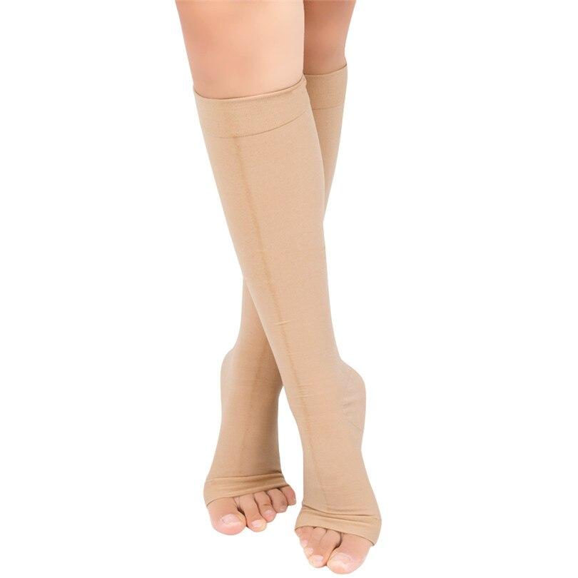Fashion 1pair Zip Compression Socks Zipper Leg Support Knee Stockings Open Toe Thin Anti-fatigue Unisex Below Knee Socks Hot Wide Varieties Men's Socks