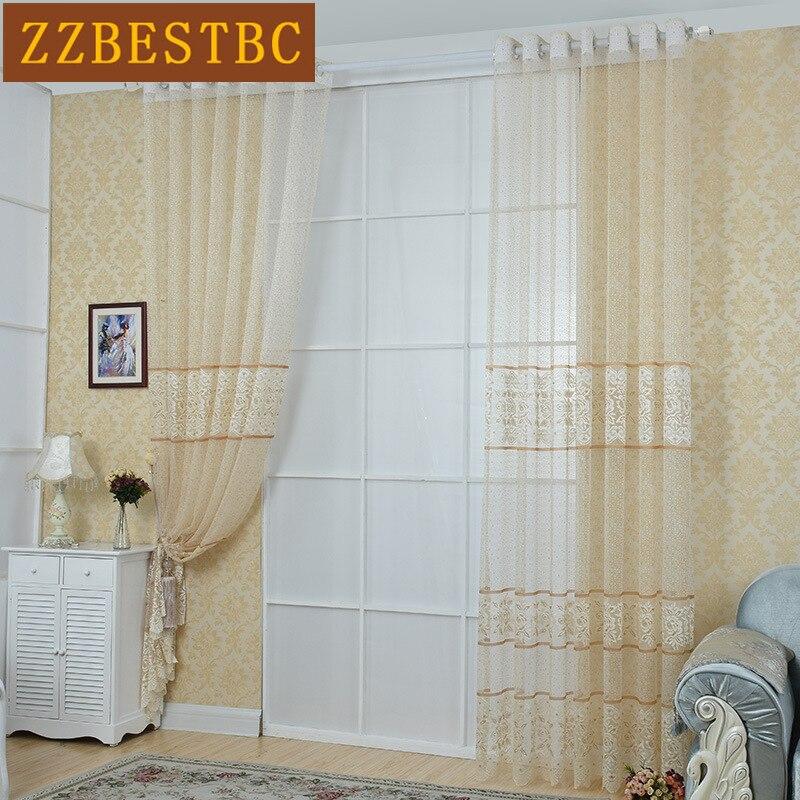 nuevo lujo europeo de encaje de tul cortinas para la sala de estar comedor cocina estudio