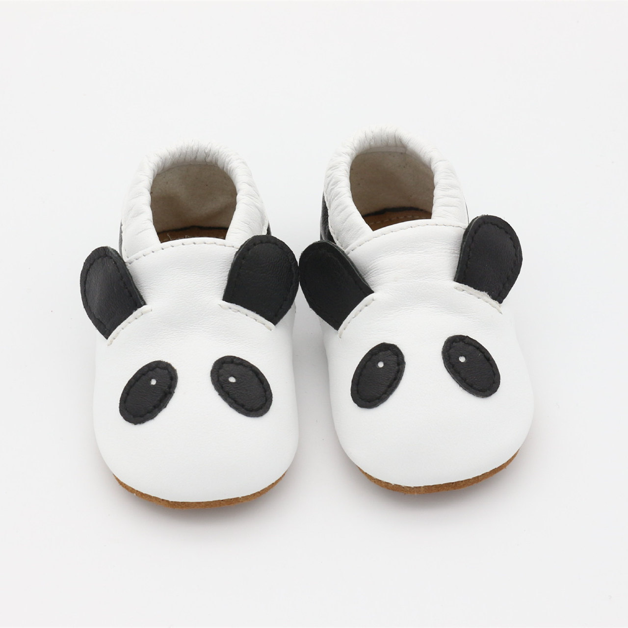 Genuine Leather Cartoon Panda Baby Shoes Lovely First Walkers Suede Leather Bottom Baby Moccasins Indoor Shoes