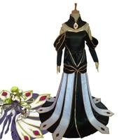 Anime CODE GEASS Cosplay Lelouch of the Rebellion C.C. Empress Ver. Costume Queen CC Dress Halloween Uniforms Custom Made