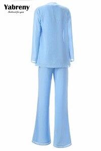 Image 4 - Yabreny エレガントな母花嫁のパンツスーツのラベンダーシフォン衣装特別な日のため MT001704 2