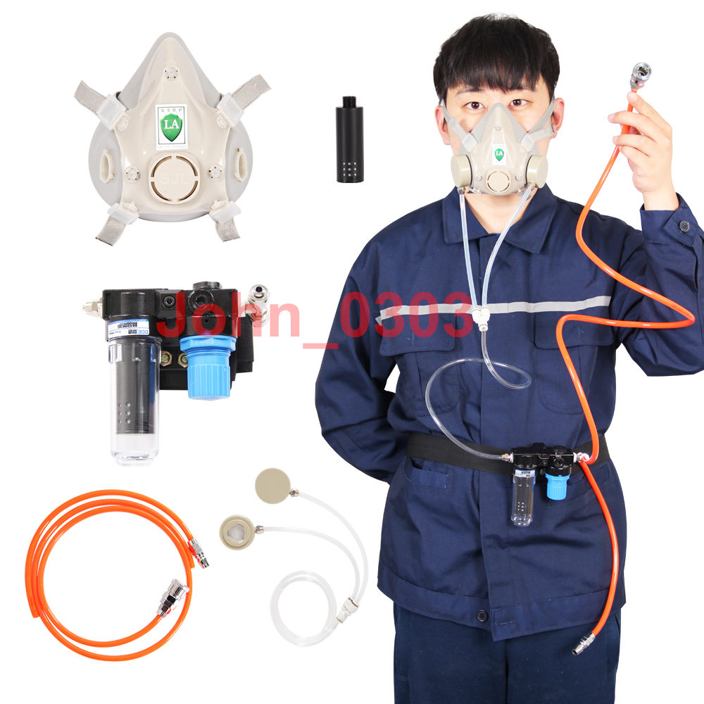 Supplied Air Fed Respirator System & 6200 Painting Spraying Gas Mask Respirator 9 in 1 suit gas mask half face respirator painting spraying for 3 m 7502 n95 6001cn dust gas mask respirator