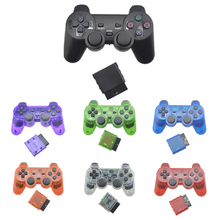 Здесь можно купить  For SONY PS2 Wireless Controller Bluetooth Gamepad for Play Station 2 Joystick Console for Dualshock 2 Transparent Color  Games & Accessories