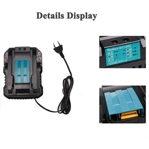 Image 4 - Dc18Rc 14.4V 18V Li Ion Battery Charger 4A Charging Current For Makita Bl1830 Bl1430 Dc18Rc Dc18Ra Power Tool Battery Eu Plug