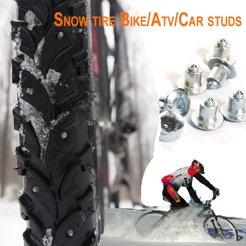 500pcs 6 5mm 0 26 Wheel Tyre Stud Snow Tire Spikes for Fat bike Mount Tyre