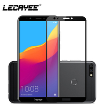 For HUAWEI Honor 7A Pro Tempered Glass 8 9 lite View 10 7X 7C 6C Protective Full Coverage Film 2.5D Hard
