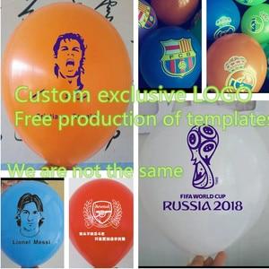 Image 1 - 12inch 100 pcs/lot Custom balloon printing logo custom advertising balloons 2.2g All kinds of colors balloons High quality