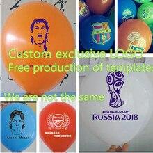 Globos de publicidad personalizados, globos de colores de alta calidad, 12 pulgadas, 100 unids/lote, logotipo de impresión personalizado, 2,2g