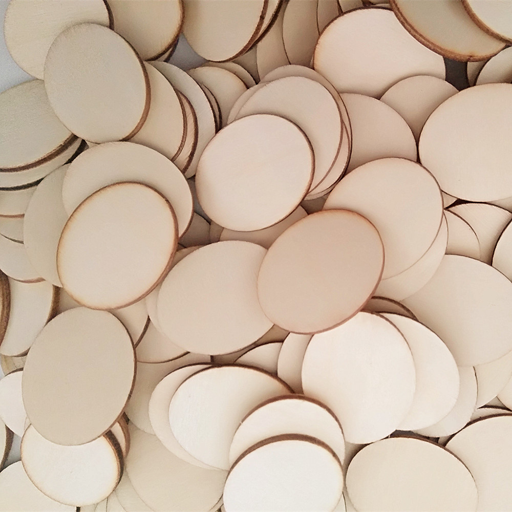 Unfinished wood craft products -  50pcs Lot 29x35mm Blank Unfinished Decorative Wooden Oval Crafts Rustic Wood Wedding Diy Scrapbooking Ornaments