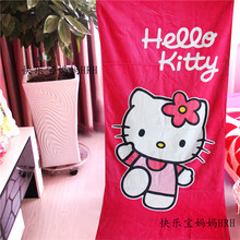 155*75cm New Arrival 100% Cotton Printed Hello Kitty Beach Towel Soft Absorbent Swimming Shower Towel Travel Blanket Bath Towel