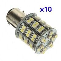 10x) 10 * T25 BAY15D 1157 Pure White 60 SMD Led-achterlicht Stop Brake Turn Licht Lamp