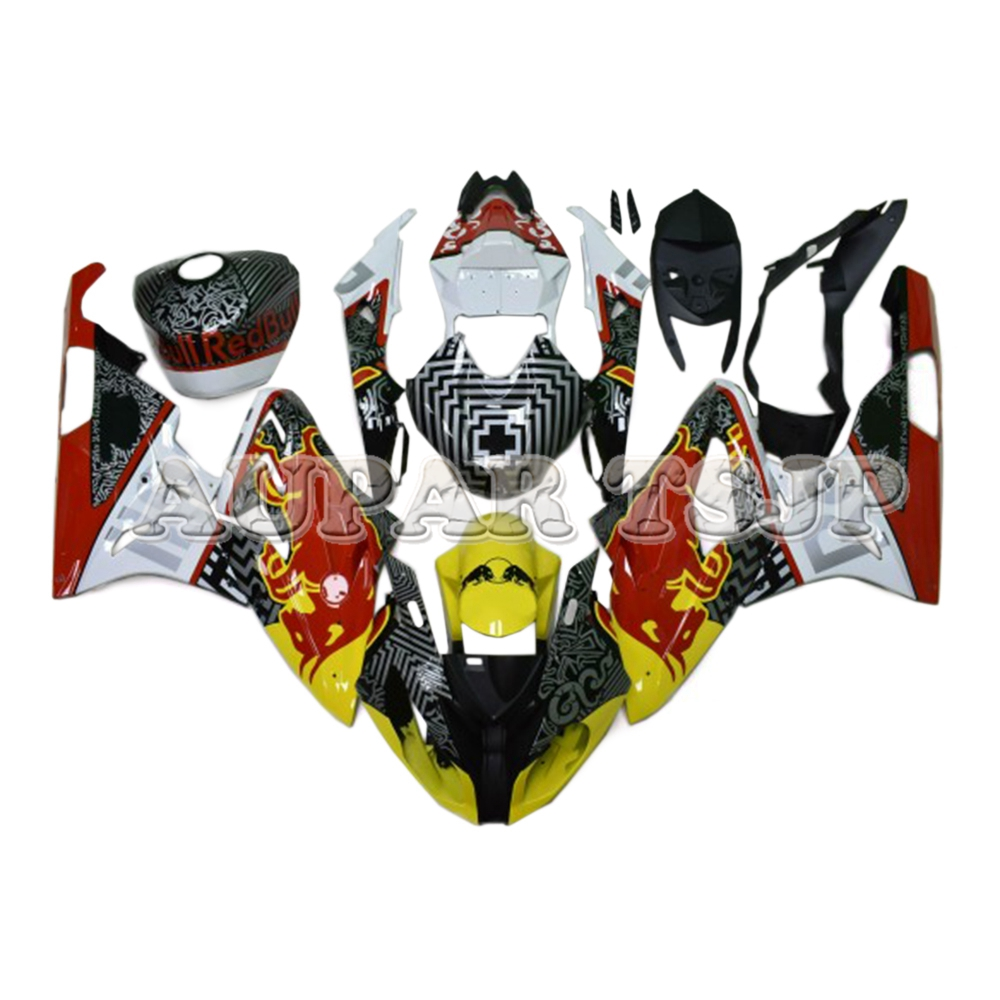 Motorcycle Hulls For BMW S1000RR 2009 2010 11 12 13 14 15 <font><b>2016</b></font> ABS Injection Sportbike Cowling White Red Black Casing image