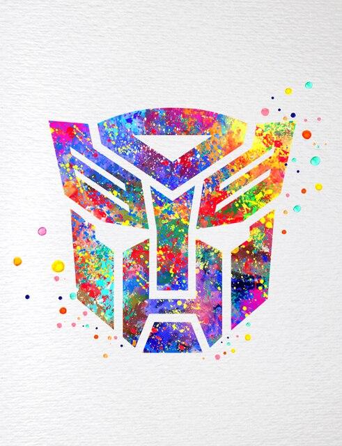 Transformers Autobots Símbolo Acuarela Inicio Decoración de Pared ...