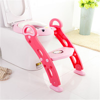 Baby Potty Seat with Adjustable Ladder Frog Boy Potty Toilet Training Frog Infant Toilet Cartoon Folding Seat Toilet Ring Pot WC
