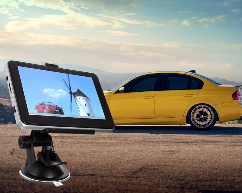 5inch Car GPS SAT NAV Navigation System Navigator Speedcam 4GB Free EU UK Maps