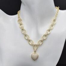 Womens bracelet heart necklace, white cubic zirconia new fashion jewelry wedding ball gift