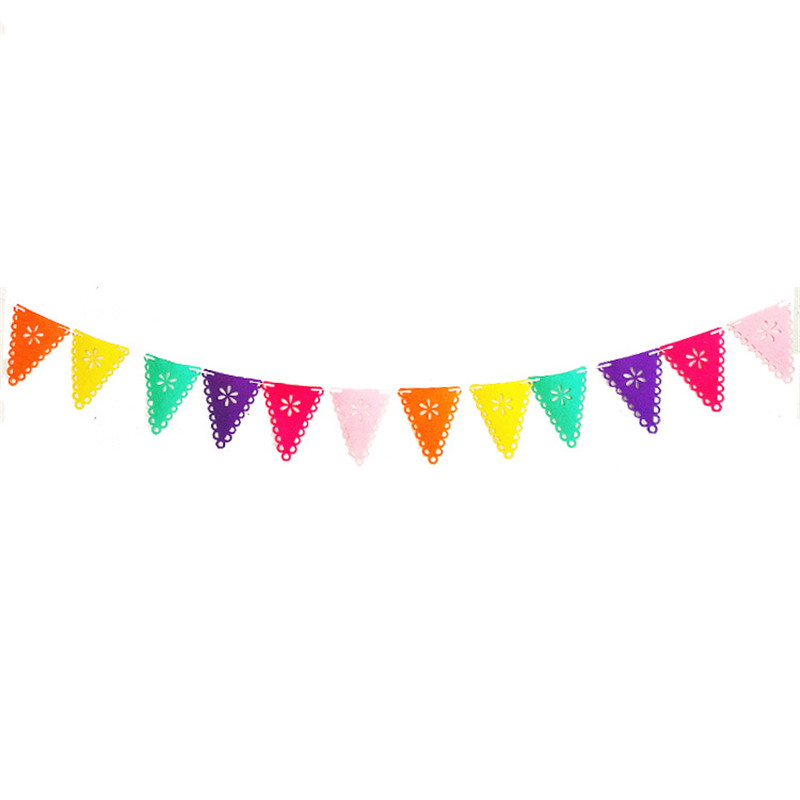 Spanish Mexican Bunting Garland Banners Flags Happy Birthday Banner