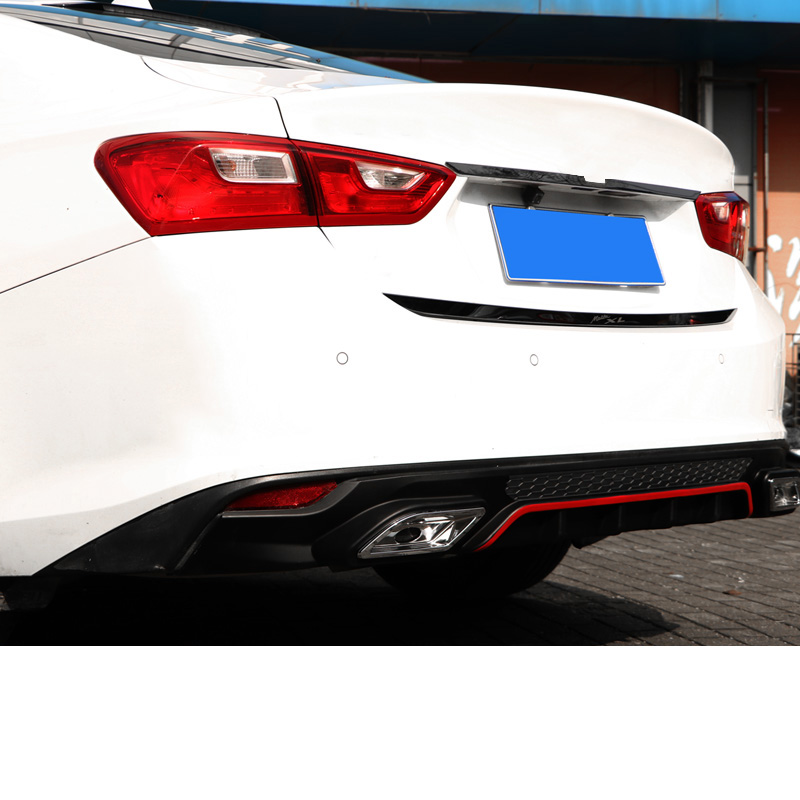 Lsrtw2017 Abs Car Tail Lip Rear Bumper Strip Trims For Chevrolet  Malibu XL 2012 2013 2014 2015 2016 2017 2018 2019 2020