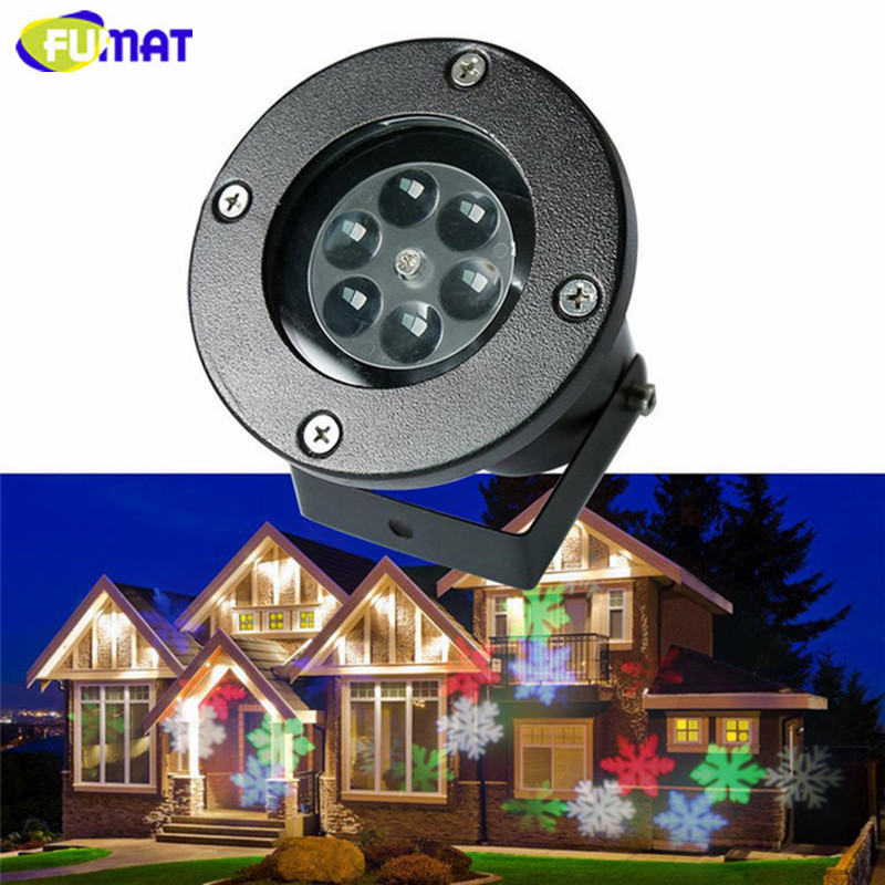 FUMAT LED Snow Projector Light IP65 Waterproof Landscape Lamp Outdoor Christmas Decoration RGB LED Stage Lighting Effect