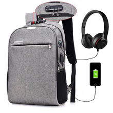 Anti-theft Men Laptop Backpacks For 15.6 inch USB Design Male Stundet Bags Casual Style Travel Bag Mochila
