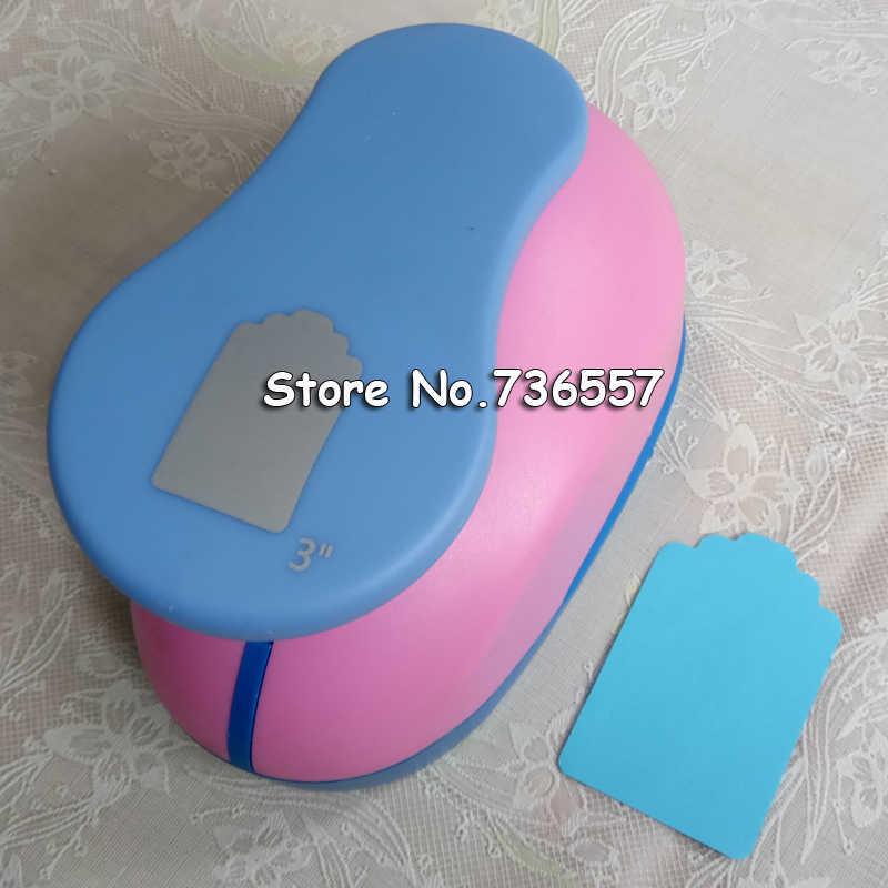 """3 pièces 1.5 ''2"""" 3 """"papier pour bricolage étiquette carte Cutter Scrapbook Shaper dispositif de gaufrage à grande échelle perforateur enfants fait main artisanat cadeau"""