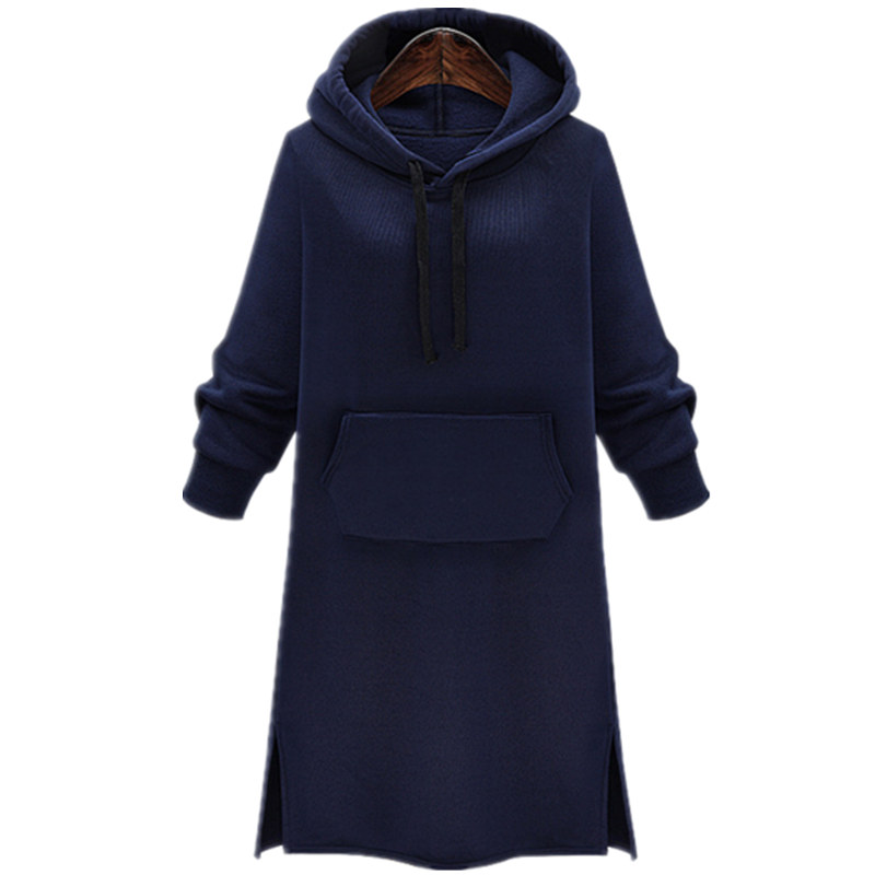Hoodie Dress Autumn Winter Women Hoodies Medieval Thicking Velvet Sweatshirt Dress Long Sleeve Hoodie Runway Dress 2017 New