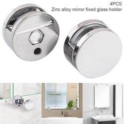 4 szklany klips s lustro łazienkowe klip ze stopu cynku szklany klips wspornik półki uchwyt uchwyt mocujący wyposażenie łazienkowe akcesoria DTT88