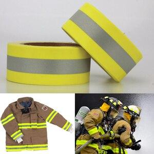 Image 3 - 5 センチメートル幅反射火炎 retardatn テープ黄色シルバーと 100% 綿手袋用送料無料